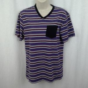 Op womens top t-shirt Size S 34 36 Purple black